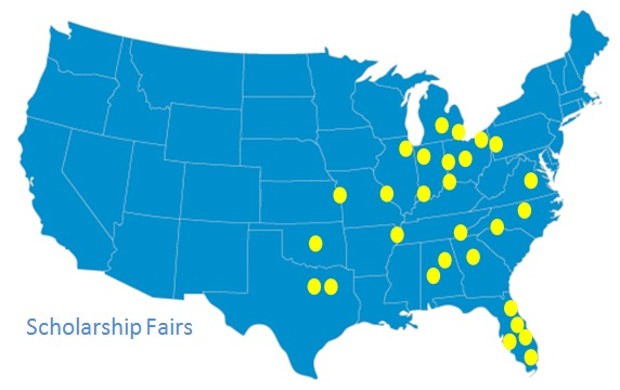 Map of Scholarship Fairs